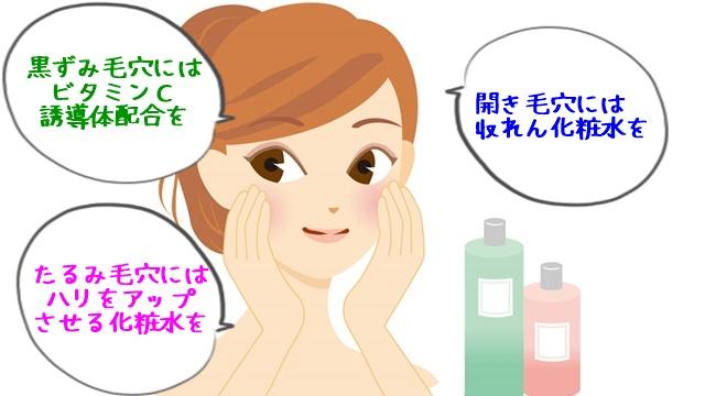 ニキビ原因の毛穴ケアに合った化粧水の選び方