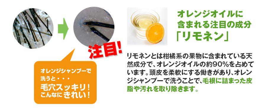 オレンジの洗浄力と抗炎症効果
